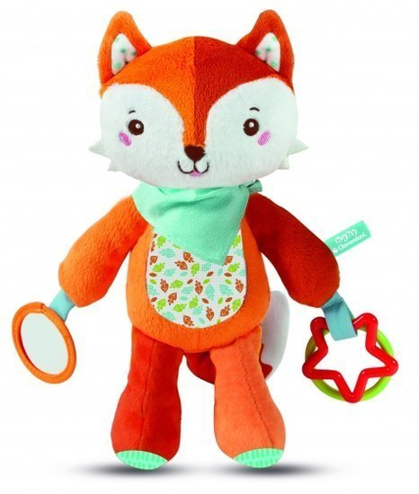 a photo of the product: Clementoni knuffelvos Play With Me 29 cm pluche oranje