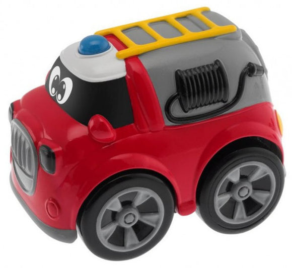 a photo of the product: Chicco brandweerwagen Turbo Team pull-back 9 cm rood