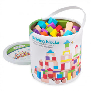 a photo of the product: New Classic Toys bouwblokken Educational junior hout 100 blokken