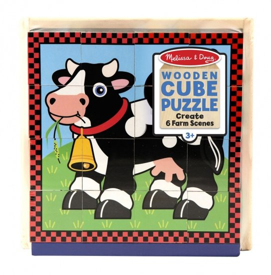 a photo of the product: Melissa & Doug blokkenpuzzel Boerderij junior hout 16-delig