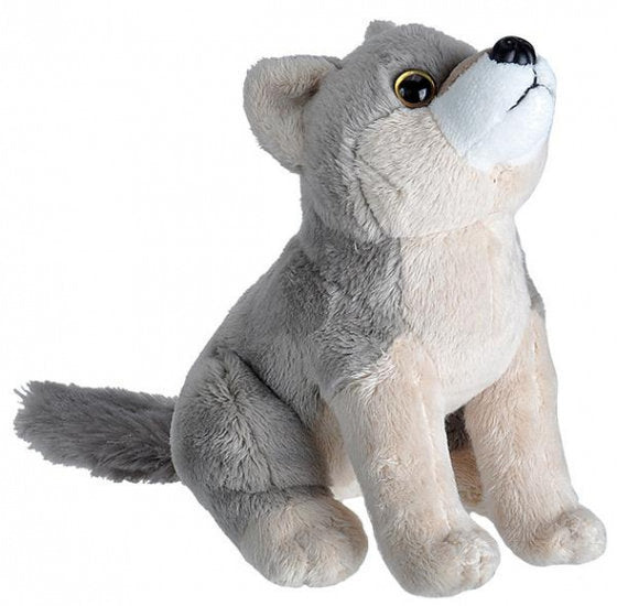 a photo of the product: Wild Republic knuffel wolf 20 cm pluche grijs/taupe