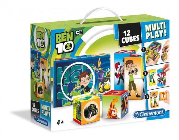 a photo of the product: Clementoni Blokkenpuzzel Ben 10 - 12 stukjes