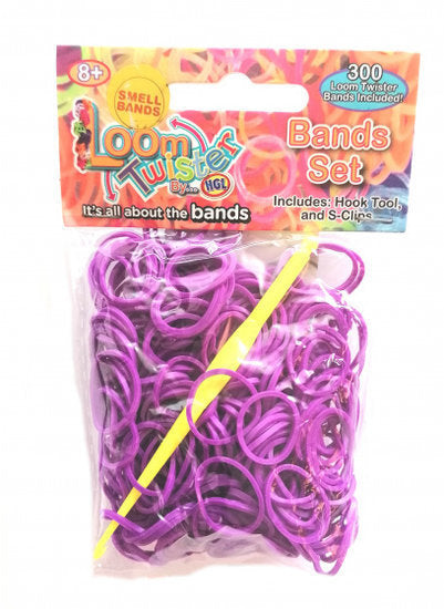 a photo of the product: Loom Twister loombands met geur junior paars 300-delig