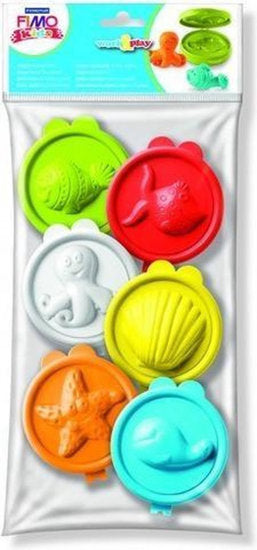 a photo of the product: fimo drukvormen onderwaterwereld junior 7 cm 6-delig