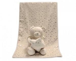 a photo of the product: Snuggle Baby babydeken met knuffelbeer crème set 2-delig