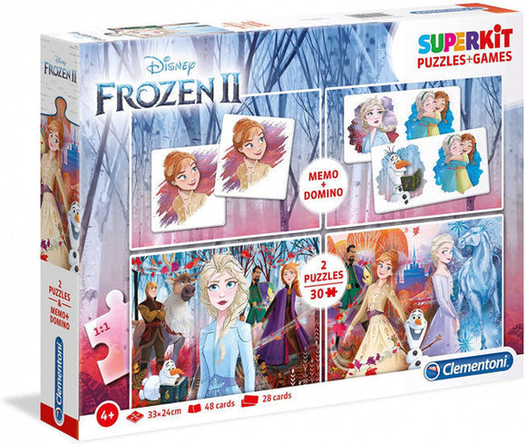 a photo of the product: Clementoni 4-in-1 puzzels Disney Frozen 2 - 2x30 stukjes