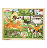 a photo of the product: Melissa & Doug houten puzzel huisdieren 24-delig
