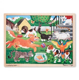 a third photo of the product: Melissa & Doug houten puzzel huisdieren 24-delig