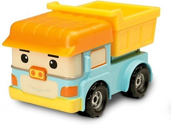 a photo of the product: Silverlit Robocar Poli - diecast Dumpo 7 cm geel