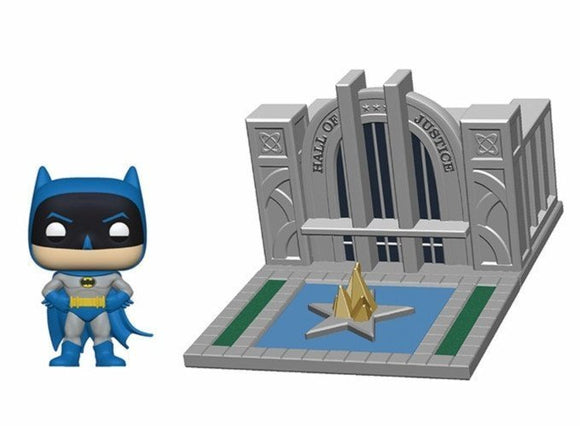 a photo of the product: Funko Pop! Town: Batman 80th Anniversary Hall of Justice