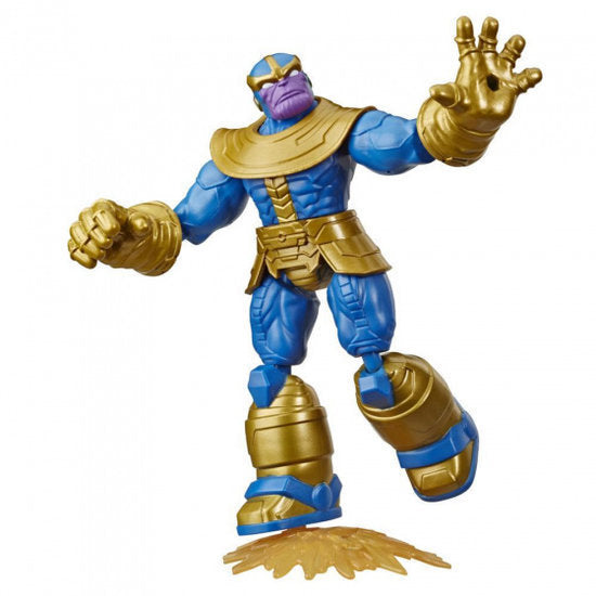 a photo of the product: Marvel actiefiguur Avengers Thanos 15 cm goud/blauw 2-delig