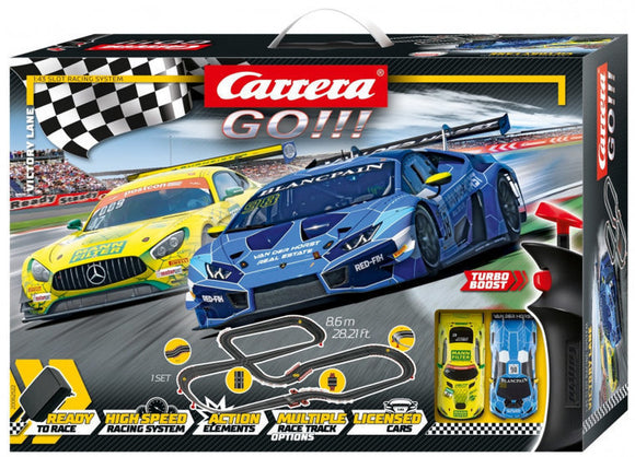 a photo of the product: Carrera Go!!! racebaan Victory Lane 8,6 m zwart 33-delig