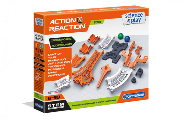 a photo of the product: Clementoni Action & Reaction uitbreidingsset junior 55-delig