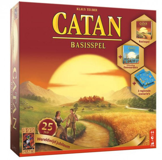 a photo of the product: 999 Games bordspel Catan: 25 jaar wereldwijd jubileum