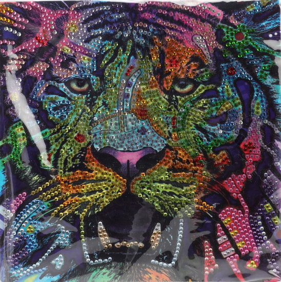 a photo of the product: Toi-Toys diamond painting Leeuw junior 20 x 20 cm 5-delig