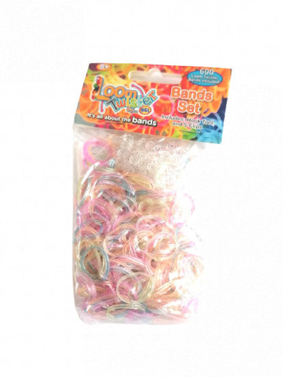 a photo of the product: Loom Twister loombandjes glitter junior rubber 603-delig