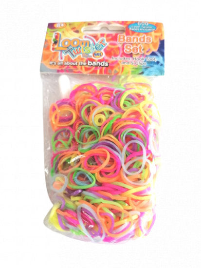 a photo of the product: Loom Twister loombandjes neon junior rubber 603-delig