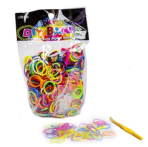 a photo of the product: Toys Amsterdam loombandjes Colorful junior rubber 600-delig