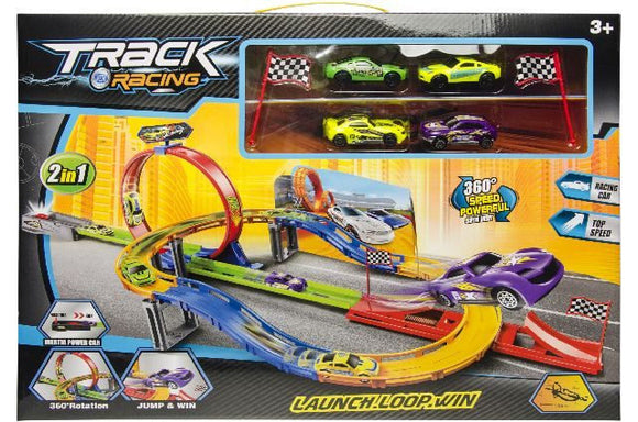 a photo of the product: Track Racing racebaan Launch Looping jongens 7-delig