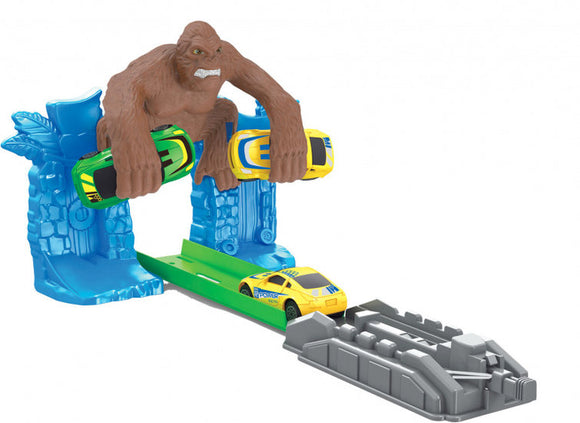 a photo of the product: Free and Easy lanceerbanen KingKong junior blauw/bruin 3-delig