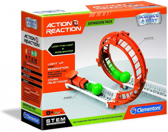 a photo of the product: Clementoni Action & Reaction uitbreidingsset Looping