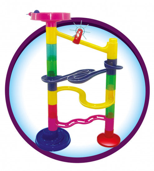 a photo of the product: Toi-Toys knikkerbaan Marble Run I junior 21-delig