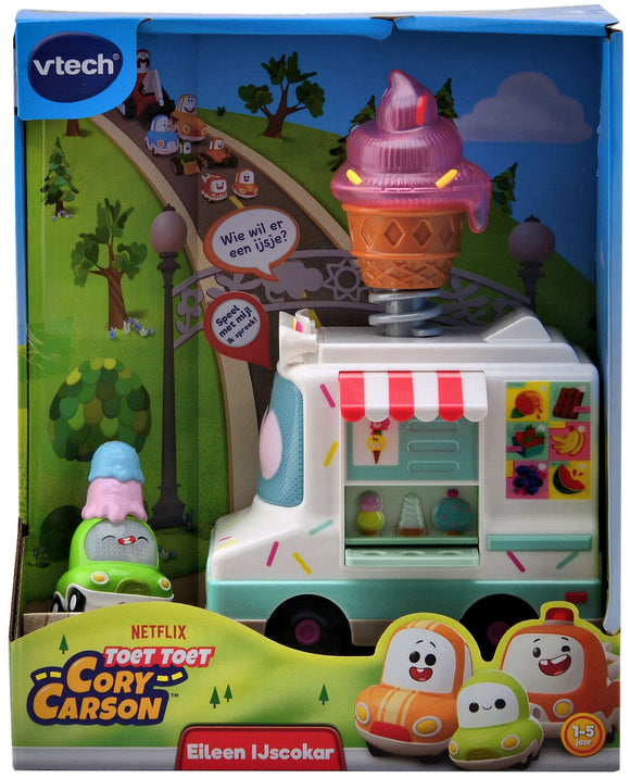 a photo of the product: Vtech Toet Toet Auto Cory Carson Eileen Ijscokar