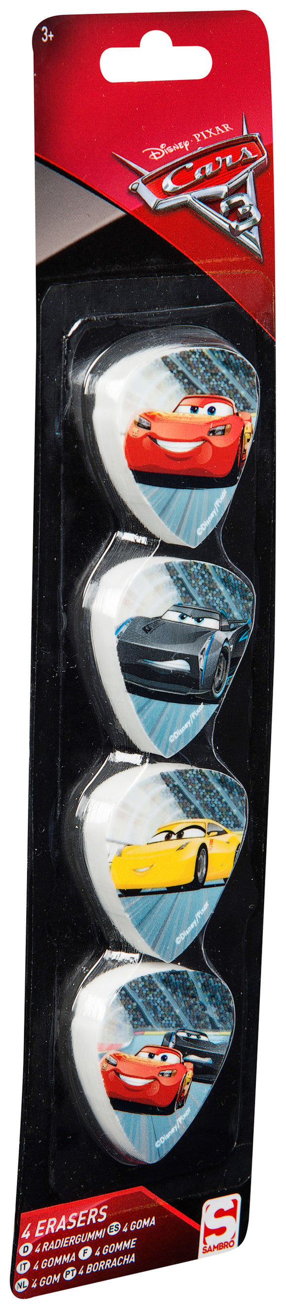 a photo of the product: Cars 3 gummen 4 stuks