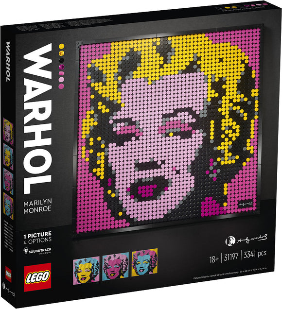 a photo of the product: LEGO ART Andy Warhol's Marilyn Monroe