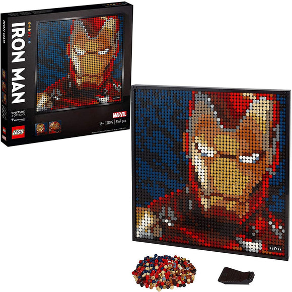 a photo of the product: LEGO ART Marvel Studios Iron Man