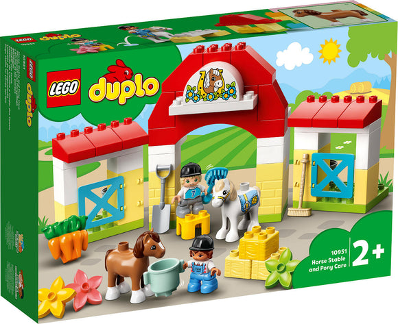 a photo of the product: DUPLO Boerderij Paardenstal en pony's verzorgen