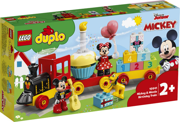 a photo of the product: DUPLO Disney Mickey  AND  Minnie Verjaardagstrein