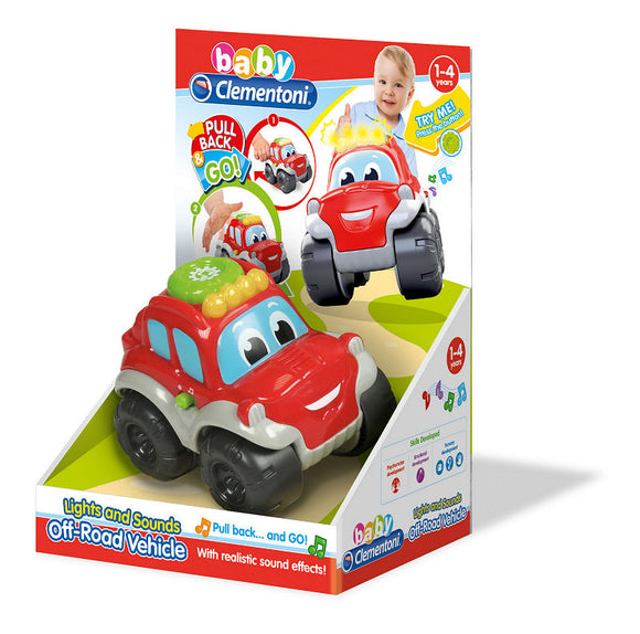 a photo of the product: Clementoni Baby Jeep Safari met Pull Back
