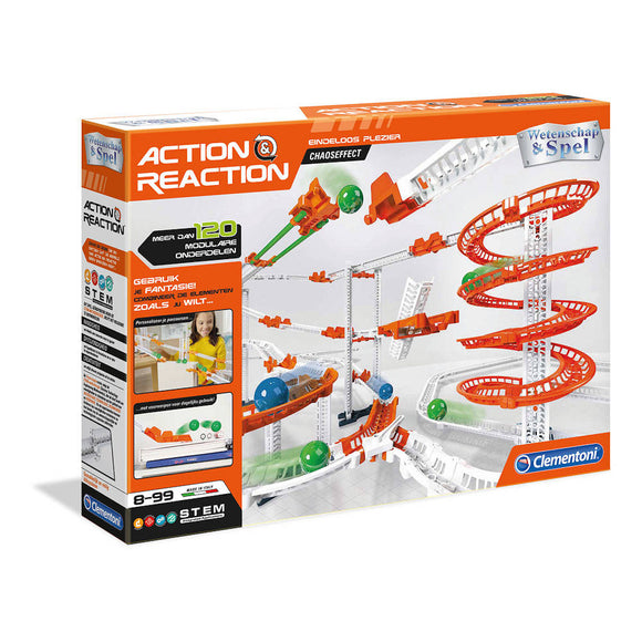a photo of the product: Clementoni Action  AND  Reaction Chaos Effect
