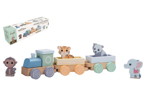 a photo of the product: Joueco - The Wildies Family Treinset met dieren