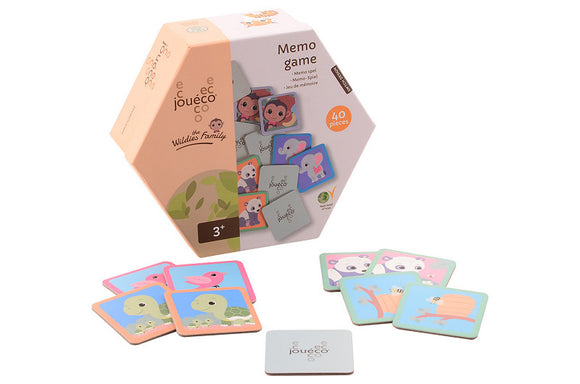 a photo of the product: Jouéco® - The Wildies Family Memo spel