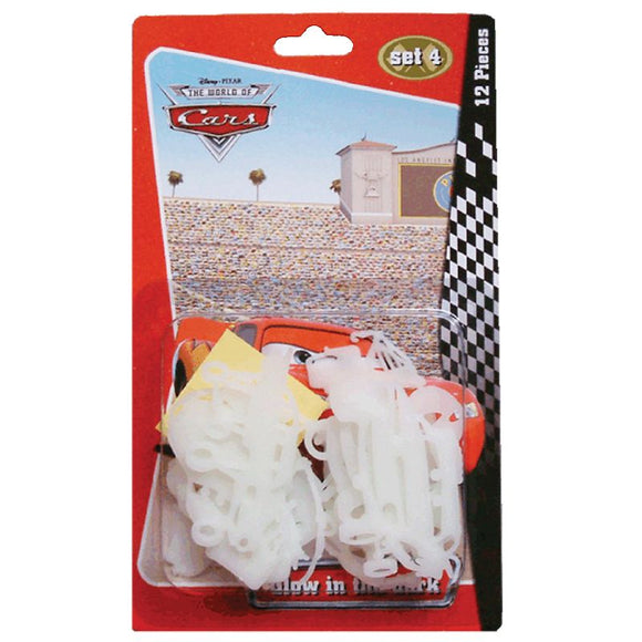 a photo of the product: Glow in the dark Cars 12 st. blister