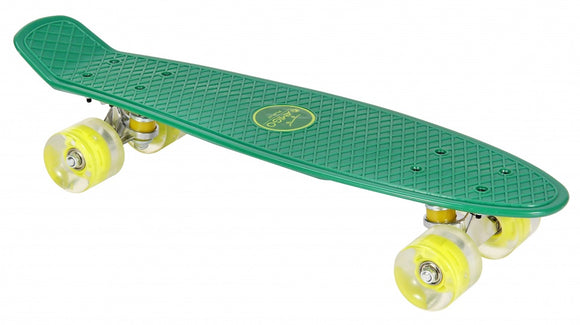 a photo of the product: AMIGO skateboard met ledverlichting 55,5 cm groen/lime