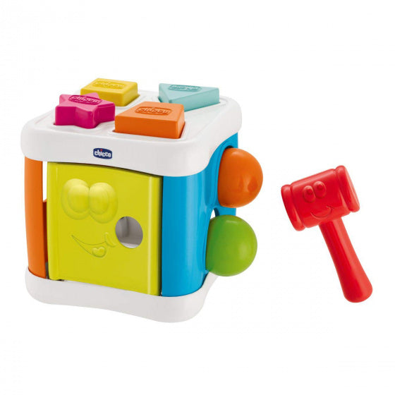 a photo of the product: Chicco vormenstoof Sort & Beat Cube 2-in-1 junior 8-delig