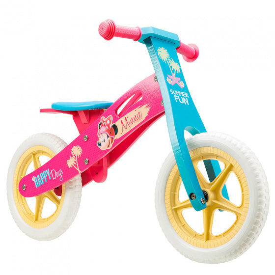 a photo of the product: Disney loopfiets Minnie Mouse 12 Inch Meisjes Roze/Blauw