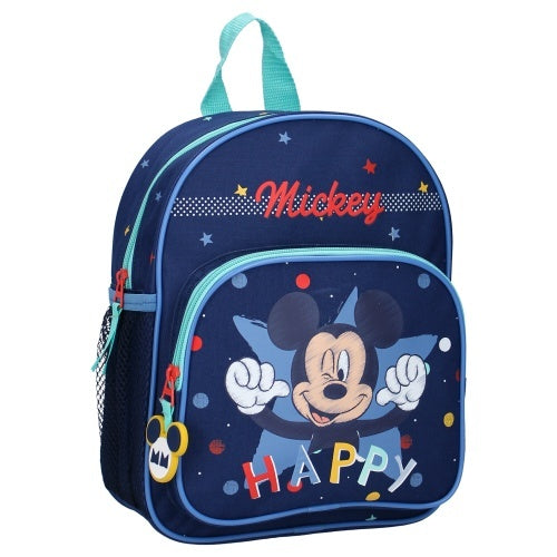a photo of the product: Disney rugzak Mickey Mouse Happiness 28 x 22 x 9 cm blauw