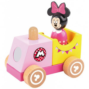 a photo of the product: Disney speelgoedtrein Minni Mouse meisjes 12 cm hout 2-delig