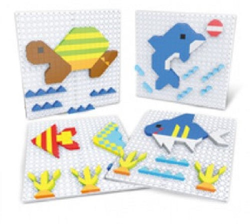 a photo of the product: Eddy Toys puzzelkunst Zeedieren 11 x 11 cm junior 375-delig