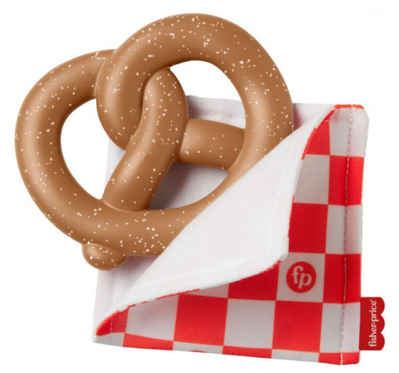 a photo of the product: Fisher-Price bijtring Pretzel junior 17 cm siliconen bruin
