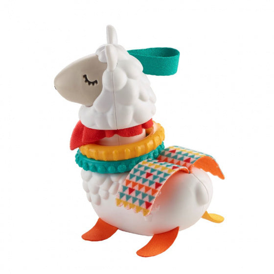 a photo of the product: Fisher-Price rammelaar Click Clack Lama junior wit/multicolor