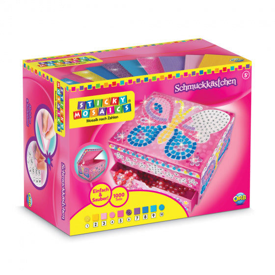 a photo of the product: Sticky Mosaics juwelendoos sticky Mosaics vlinder junior roze