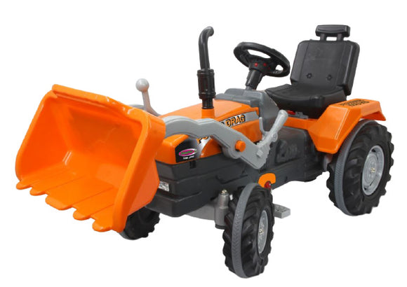 a photo of the product: Jamara traptractor Power Drag met voorlader 126 x 54 cm oranje