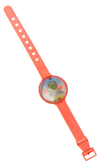 a photo of the product: LG-Imports geduldspel doolhof horloge schildpad 17 x 3 cm rood