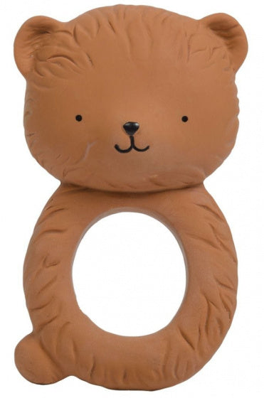 a photo of the product: A Little Lovely Company bijtring Beer junior 10 cm rubber bruin