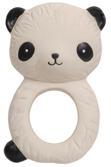 a photo of the product: A Little Lovely Company bijtring Panda junior 10 cm rubber beige